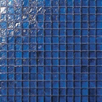 3/4 X 3/4 Glass Tile Mosaic - GC005 Rippled Glass Dark Blue - Iridescent