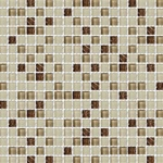 5/8 X 5/8 Glass Tile Mosaic - GM007 Frosted Rippled Glass - Brown Blend