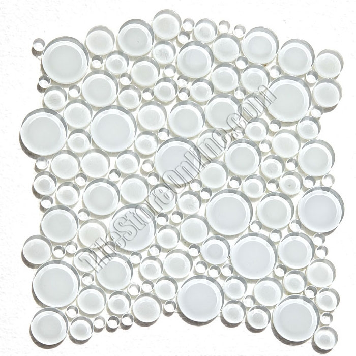 Round Bubbles Gl Tile Mosaic Crystal