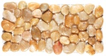 Polished River Rock Pebble Stone Border - PB 101 Yellow Stone River Rock Pebble Stone Border - Polished
