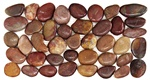 Polished River Rock Pebble Stone Border - PB 105 Red Cranberry River Rock Pebble Stone Border - Polished