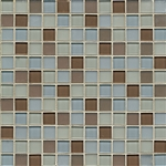 ODD LOT SUPER DEAL - Loft Glass - Promenade - 1 X 1 Square Glossy and Matte Glass Mosaic Combo Mix