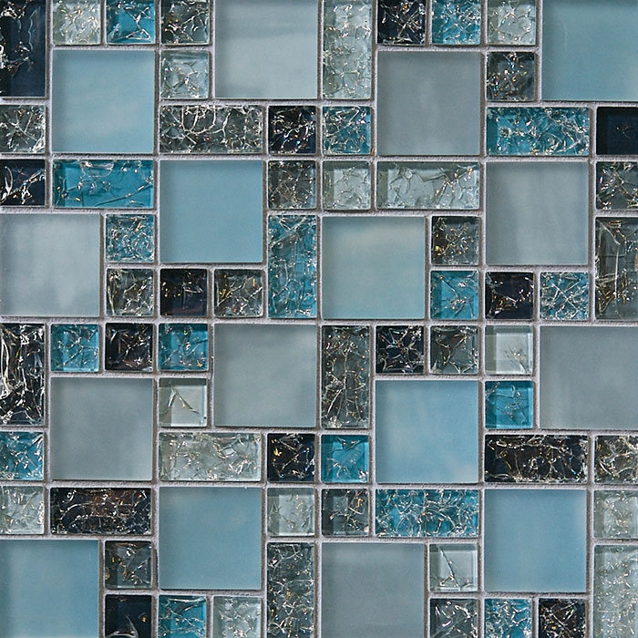 Glass Tile - Various Sized Crackled Glossy Glass and Frosted Glass ...