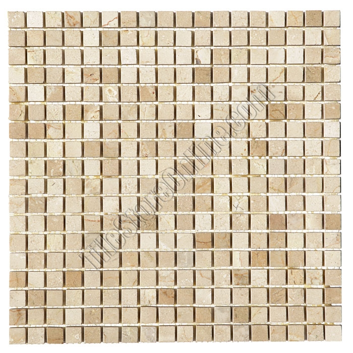 Marble Mosaic Tile 5 8 X Crema Marfil Mini Square Polished