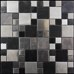 Metal Mosaic Tile - Nova Futura - #91 Multi Size MIxed Metal Mosaic