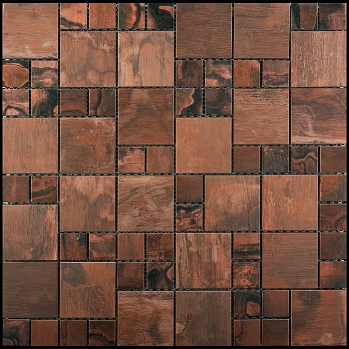 copper mosaic tile nova futura patina copper mixed size. Black Bedroom Furniture Sets. Home Design Ideas