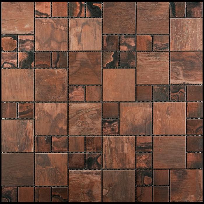 Copper Mosaic Tile Nova Futura Patina Mixed Size Metal