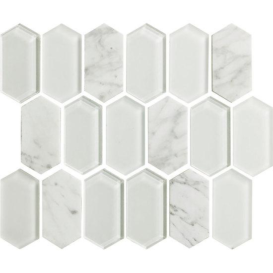 American Olean Entourage Alair AL Cotton X Long Hexagon - American olean 4x4 wall tile