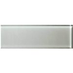 American Olean Color Appeal Glass - C102 Silver Cloud - 4X12 Subway Glass Tile Plank - Glossy