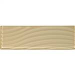 American Olean Color Appeal Entourage Abstracts Glass - C104 Cloud Cream - 4X12 Wavy Subway Glass Tile Plank - Glossy