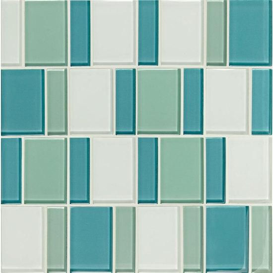 American Olean Color Appeal Renewal Entourage Block C Sea - American olean 2x2 mosaic tile