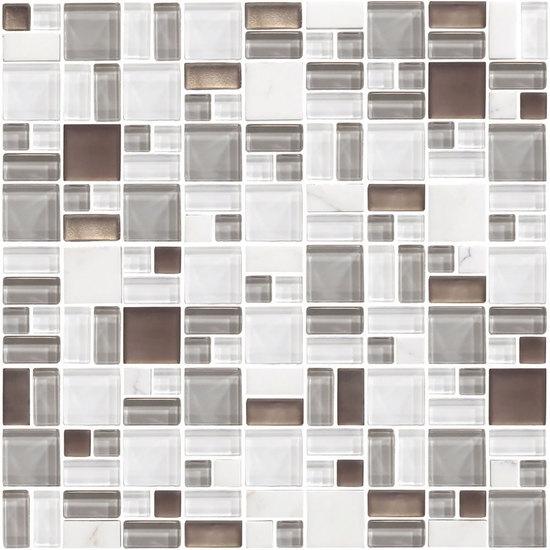 American Olean Entourage Fortify FF Cloud Block Random Glass - American olean 4x4 wall tile