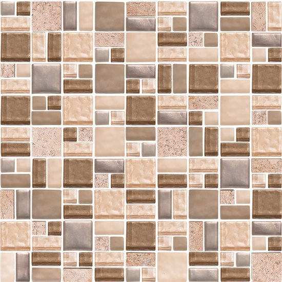 American Olean Entourage Fortify FF Crater Block Random Glass - American olean 2x2 mosaic tile