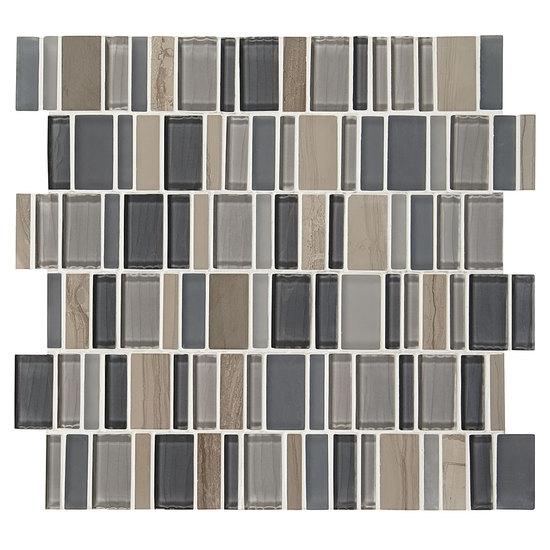 American Olean Entourage Jubilance JB Joy Blend X Random - American olean glass and stone mosaic tile