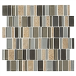 "American Olean Entourage Jubilance - JB06 Triumph Blend - 2"" X Random Interlocking Glass & Stone Mosaic Tile"
