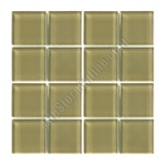 American Olean - Legacy Glass - LG27 Chamois - 1 X 1 Square Glass Tile Mosaic - Glossy - ODD LOT SUPER DEAL