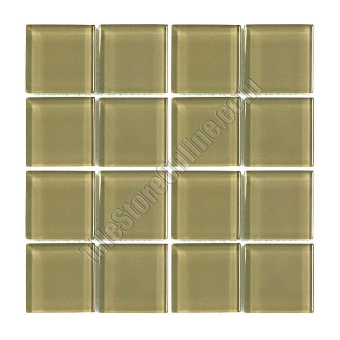 American Olean Legacy Glass LG Chamois X Square Glass - American olean 4x4 wall tile