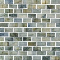 American Olean Visionaire Brick Subway Stained Gl Va93 Whispering Stream 5 8 X 1 4 Mini Designer Essentials Tile Mosaic