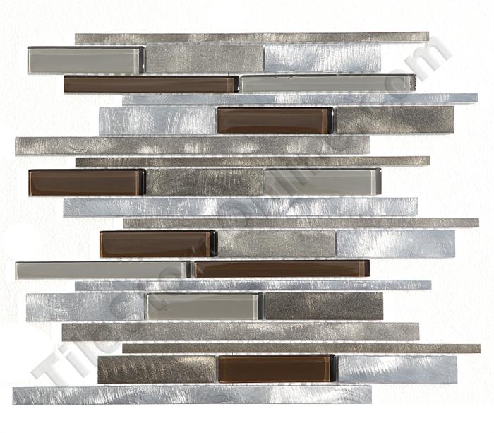 Mulia - Urban Mix - AZS04 Bronze - Linear Glass & Aluminum Metal ...