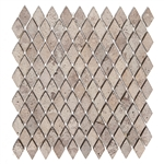 Tumbled Mini Rhomboid Travertine Mosaic - Mexican Durango Chocolate Noche Color - ODD LOT SUPER DEAL