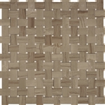 Basketweave Marble Mosaic Tile - Athens Gray with Wooden Beige Marble Dot - Polished