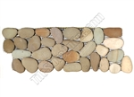 River Rock Pebble Stone Border - Natural Olive Interlocking Pebble Liner