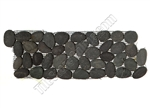 River Rock Pebble Stone Border - Swarthy Black Interlocking Pebble Liner