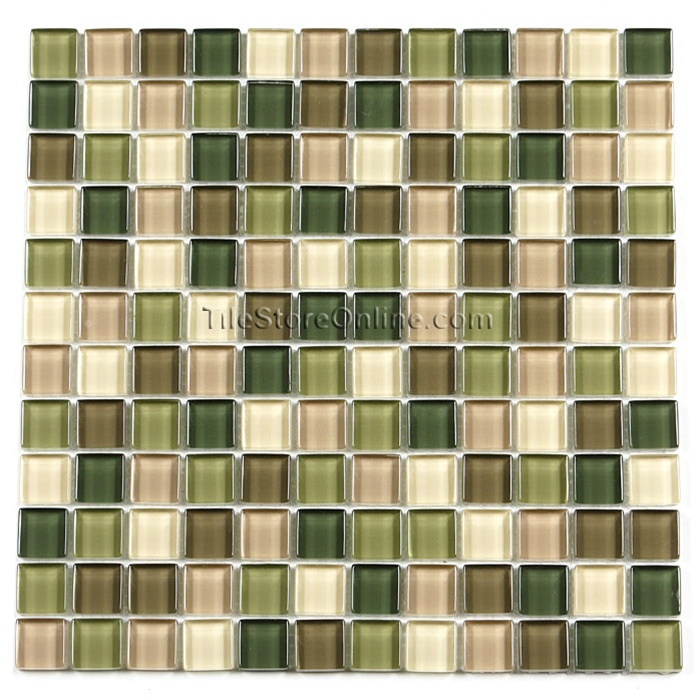 Glass Tile 1 X 1 Glass Tile Mosaic GA1004 City Camouflage