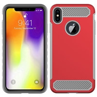 iPhone X Max CF Armor Case - Red