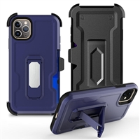 "iPhone 11 Pro Max 6.5"" Multi-Function Holster Combo Case - Blue"