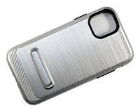 "iPhone 11 Pro Max 6.5"" Armor Case with Magnetic Kickstand - Silver"
