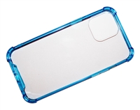 "Wholesale iPhone 12 Pro Max 6.7"" Crystal Case with Edge Bumper - Blue"