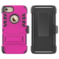 iPhone 7 / 8 Armor Holster Combo Case - Pink