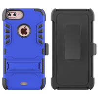 iPhone 7 / 8 Plus Armor Holster Combo Case - Blue