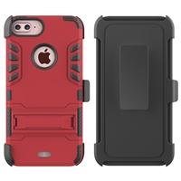 iPhone 7 / 8 Plus Armor Holster Combo Case - Red