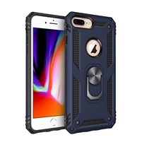 iPhone 7 / 8 Plus Magnetic Ring Stand Hybrid Case - Blue