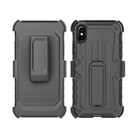 iPhone X Armor Holster Combo Case - Black