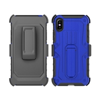 iPhone X Armor Holster Combo Case - Blue