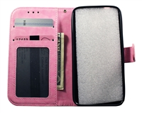 iPhone X Leatherette Wallet Case - Pink