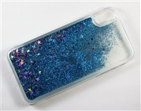 iPhone XS Max Liquid Glitter TPU Case - Blue