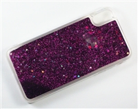 iPhone XS Max Liquid Glitter TPU Case - Purple