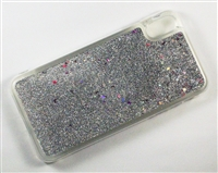 iPhone XS Max Liquid Glitter TPU Case - Silver