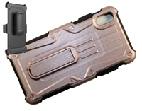 iPhone XR Armor Holster Combo Case - Rose Gold
