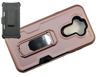 LG Aristo 5 / Monarch / Fortune 3 Multi-Function Holster Combo Case - Rose Gold