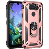 LG Aristo 5 / Monarch / Fortune 3 Magnetic Ring Stand Hybrid Case - Rose Gold