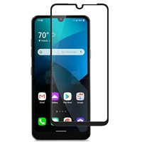 Full Coverage Tempered Glass Screen Protector for LG Harmony 4 / K41 / Premier Pro Plus - Black