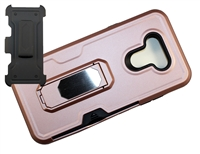LG Premier Pro Plus / K41 / Harmony 4 Multi-Function Holster Combo Case - Rose Gold