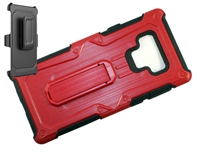 Samsung Galaxy Note 9 Armor Holster Combo Case - Red