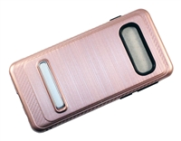 Samsung Galaxy S10 Armor with Magnetic Kickstand Case - Rose Gold