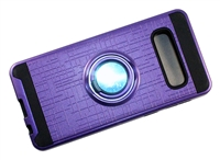 Samsung Galaxy S10e Armor Case with Ring Holder and Plate for Magnetic Holder - Purple